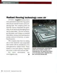 Home Builder Magazine: Radiant Flooring Technology Uses Air Instead of Water