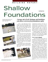 Home Builder Magazine: Building Report - Shallow Foundations Combat Frost