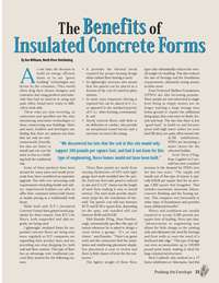 Pushing the Envelope Magazine - Ontario Building Envelope Council: The Benefits of Insulated Concrete Forms