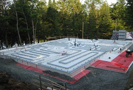 The Legalett GEO-Slab ICF Slab on Grade Forming System is ideal for Frost Protected Shallow Foundations with radiant heat