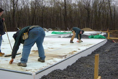 The Foundation is the Engineered Structural Concrete Slab