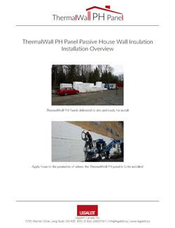 Technical Drawings for ThermalWall PH Panel - EPS Foam Insulation panels for ICF, Passive House and Net Zero Energy Designs - Legalett Canada