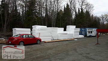 1. ThermalWall PH Passive House Insulated Wall Panels delivered to site and ready for install
