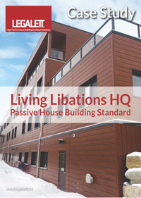 Legalett Commercial Case Study - Living Libations HQ Passive House Facility with GEO-Passive & ThermalWall PH in Ontario